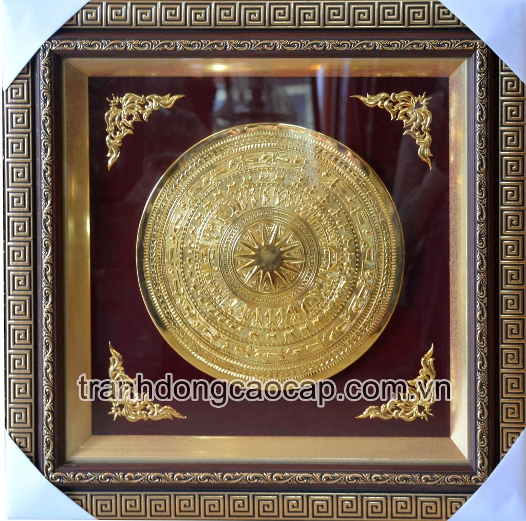 mặt trống đồng mạ vàng