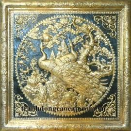 Tranh ngọc đường phú quý mạ vàng 24k