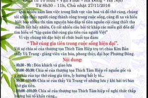 """Thư mời tọa đàm: """"Tập quán thờ cúng gia tiên người Việt"""""""