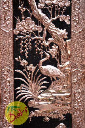 cây tùng và chim hạc trong tranh tứ quý