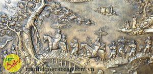 tranh vinh quy bái tổ bằng đồng